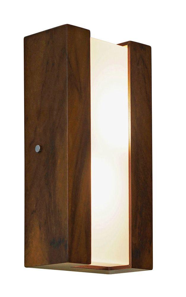 Arandela Listra Vertical Em Madeira 30x15x8,5cm 2xE27 Bivolt Union Iluminação 043