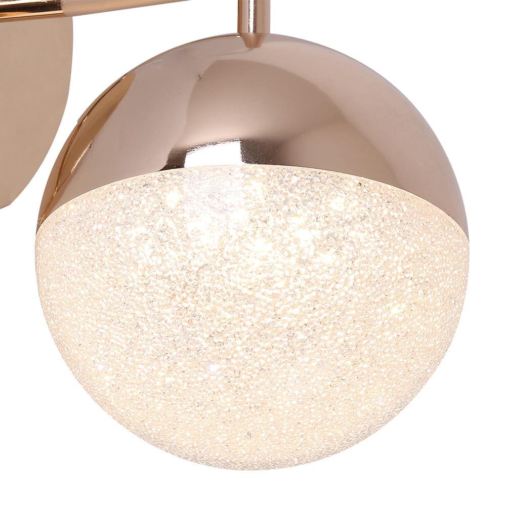 Arandela Media Luna French Gold e Transparente 18x12x27,5cm Led 6W Bivolt Bella Iluminação HM004