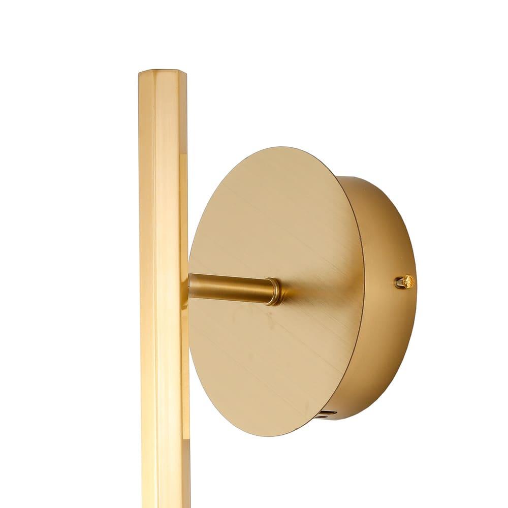 Arandela Pétra Dourado e Transparente 11x12x42cm 1xLed 3W Bivolt Bella Iluminação OC004S