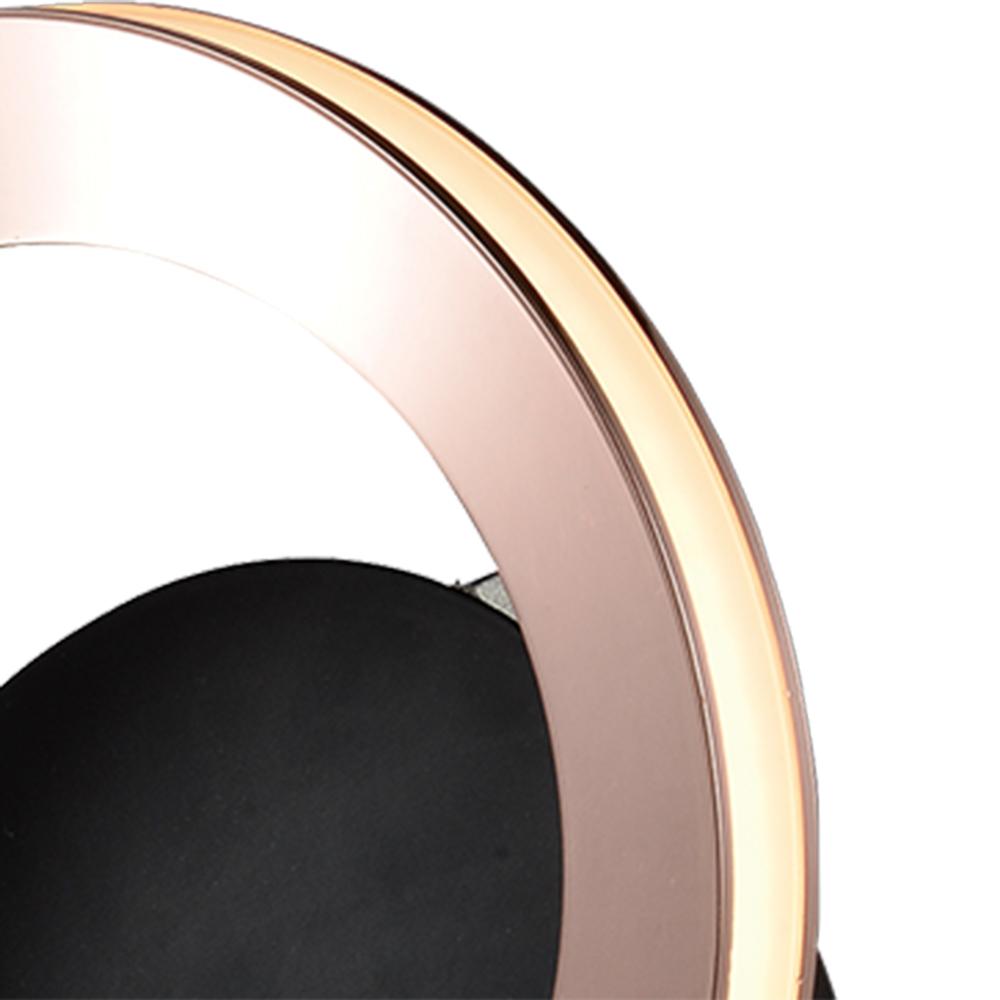 Arandela/Plafon Ginga Cobre e Preto 17x10,5x17cm 1xLed 6W 3000K Bivolt Bella Iluminação BB015