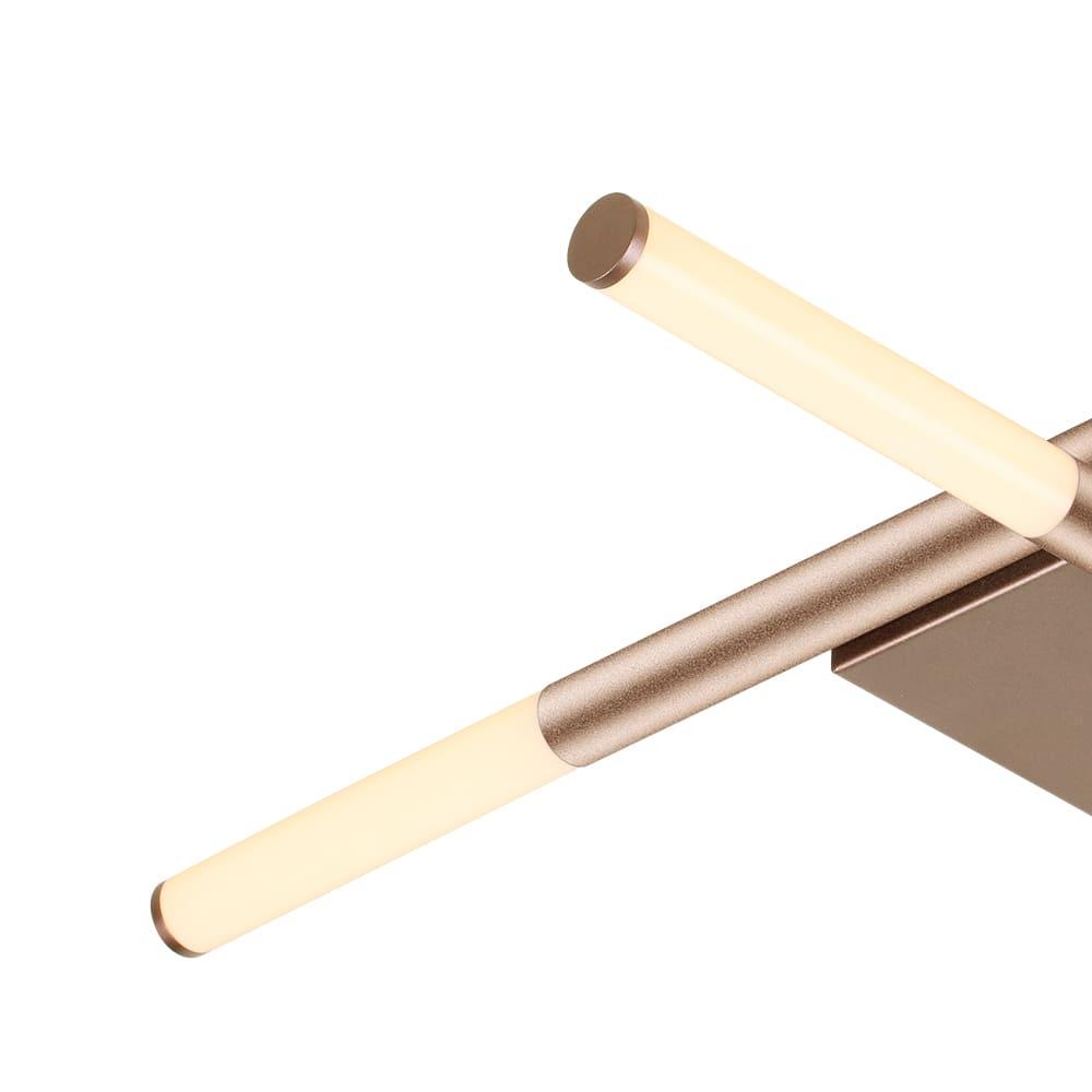 Arandela/Plafon Palito Pale Gold 70x70x7cm 4xLed 24W Bivolt Bella Iluminação CD016