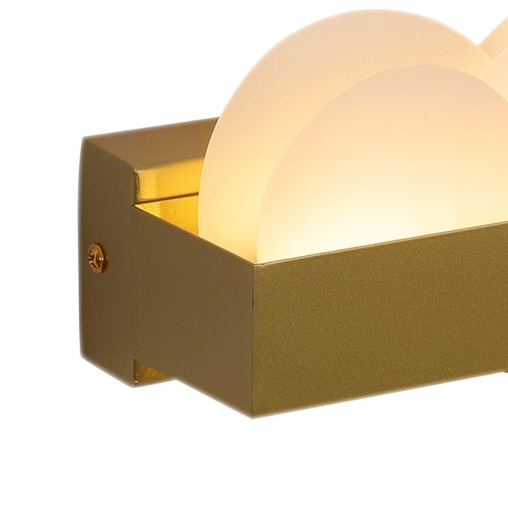 Arandela Poema Dourado e Branco 30x6x9cm Led 10W Bivolt Bella Iluminação EG005