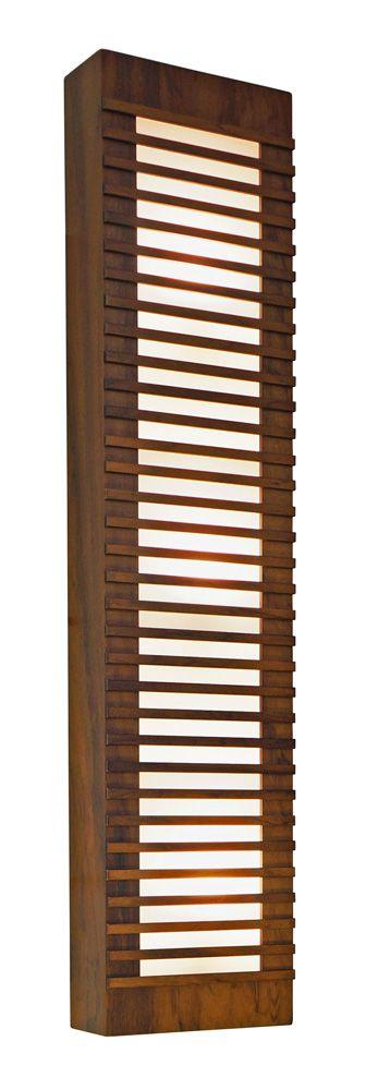 Arandela Ripada Longa Em Madeira 90x20x8,5cm 3xE27 Bivolt Union Iluminação 070