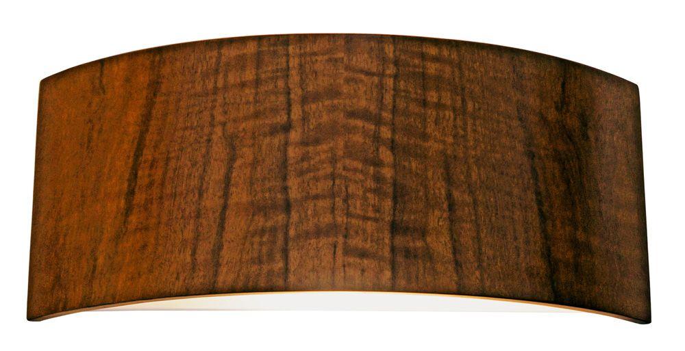 Arandela Semi Cilíndrico Em Madeira 16x40x10cm 2xE27 Bivolt Union Iluminação 085