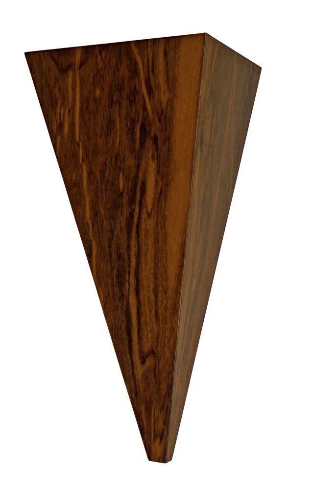 Arandela Em V Pequena Em Madeira 31x19x10cm 1xG9 Bivolt Union Iluminação 128