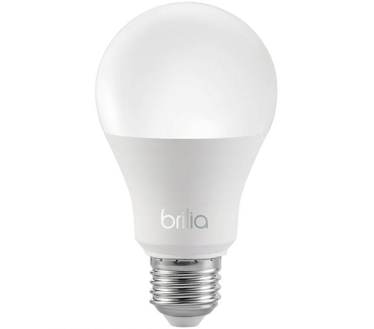 Lâmpada Led Bulbo E27 9W Bivolt 3000k Branco Quente Brilia Ref. 439722