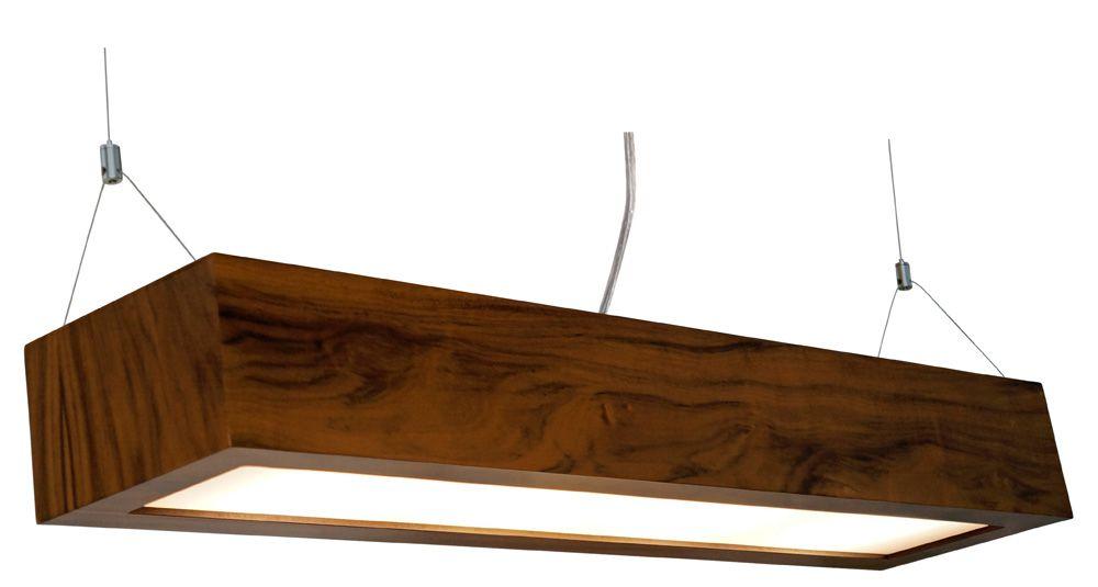 Pendente Aberto Estreito Longo Em Madeira 12x90x20cm 4xE27 Bivolt Union Iluminação 020