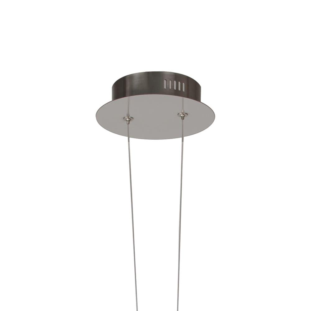 Pendente Água Nickel Branco e Transparente 4,5x38,5cm 1xLed 7W Bivolt Bella Iluminação RE015S