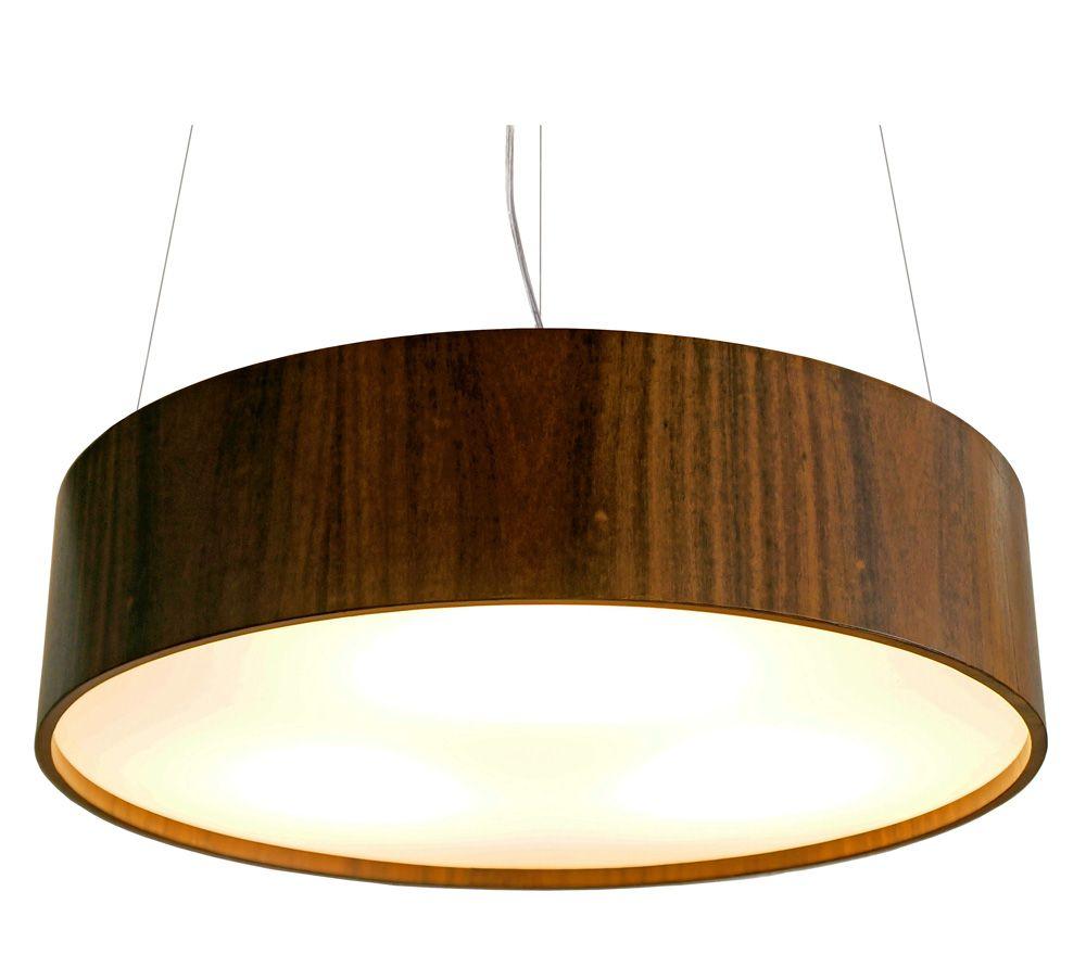 Pendente Cilíndrico Em Madeira Ø60x15cm 4xE27 Bivolt Union Iluminação 145