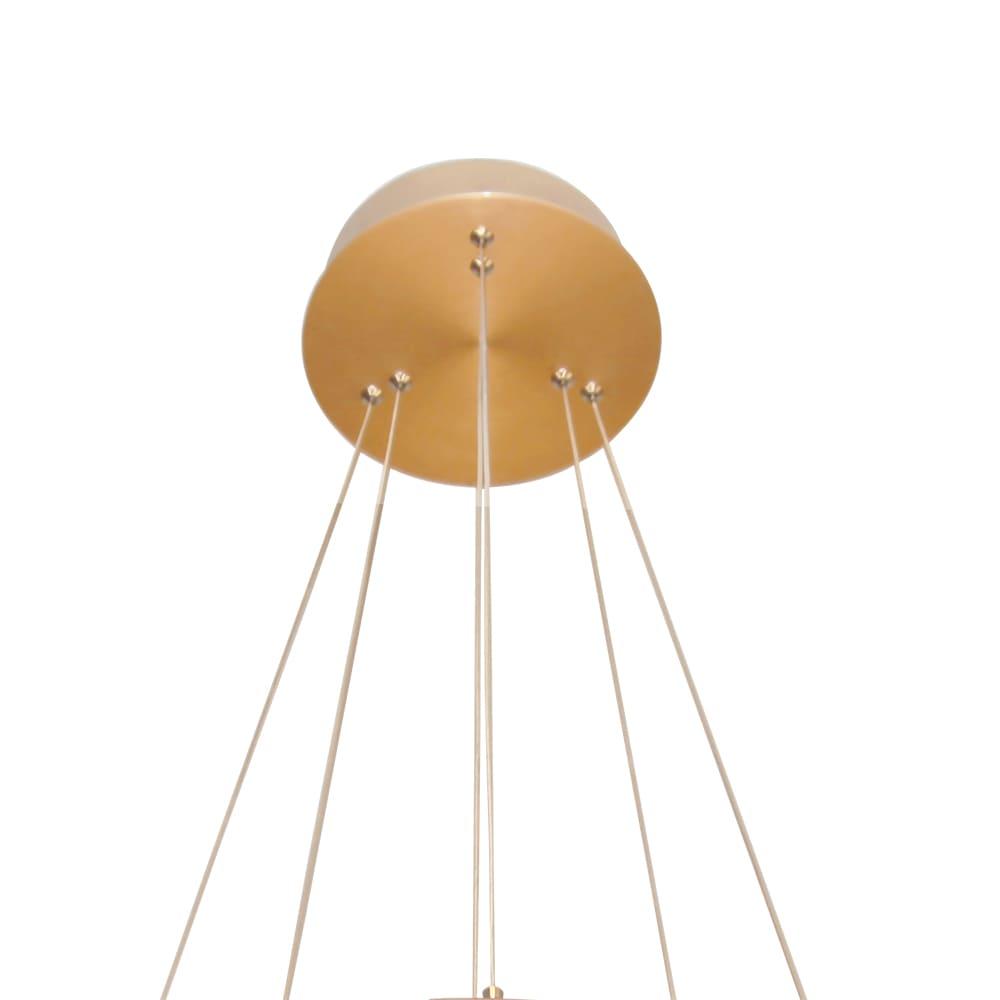 Pendente Circolo French Gold 60x2,5cm Led 43,2W Bivolt Bella Iluminação BB022