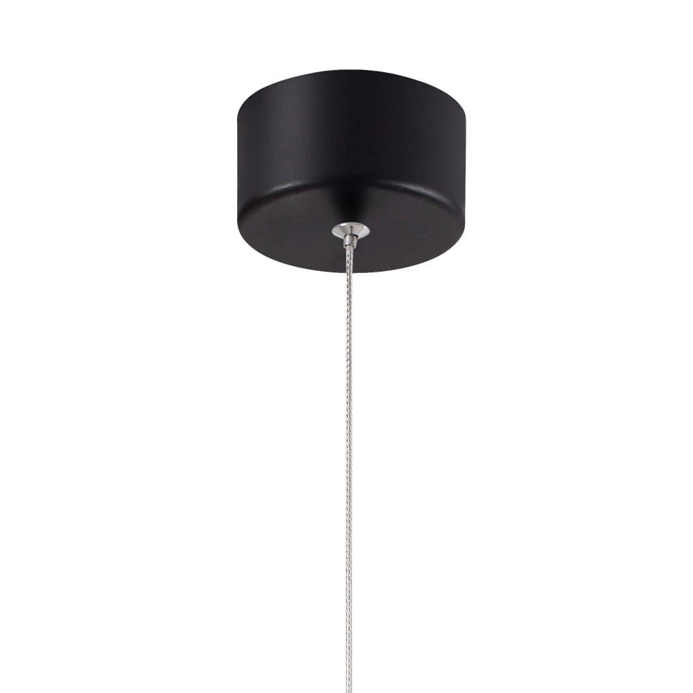 Pendente Cordel Preto 15x13cm Led 7W Bivolt Bella Iluminação CD013