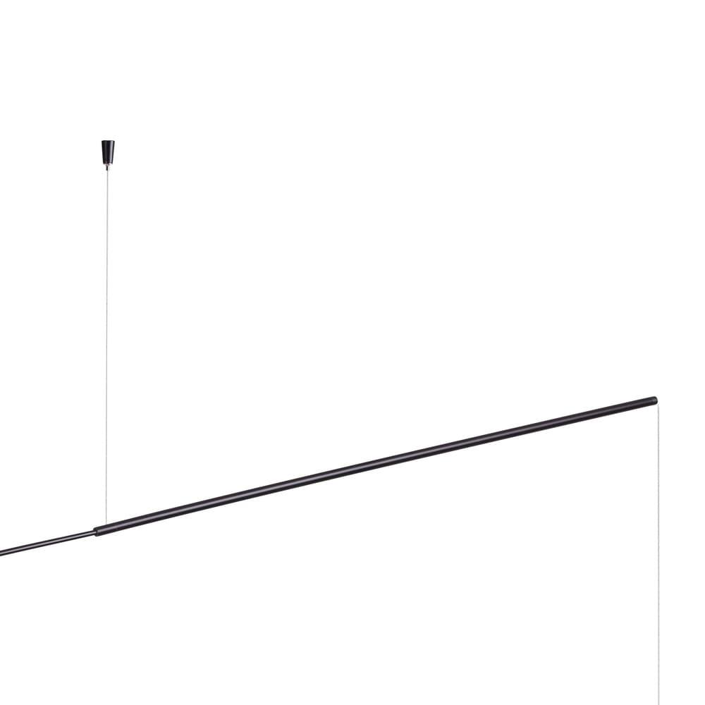 Pendente Cordel Preto 25x200x150cm Led 7W Bivolt Bella Iluminação CD006