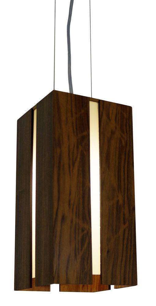 Pendente Filete Em Madeira 30x15x15cm 1xE27 Bivolt Union Iluminação 003