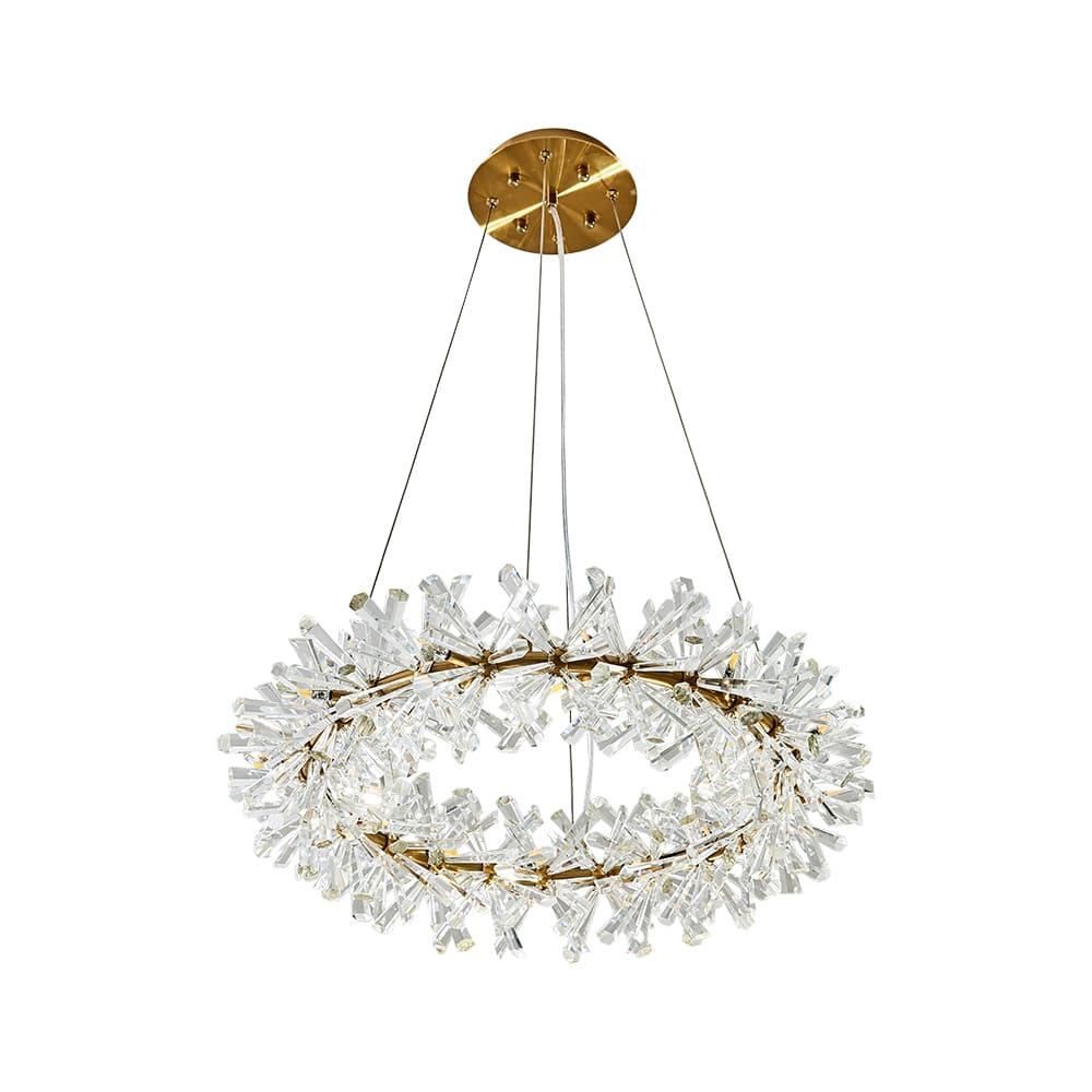 Pendente Flora Dourado e Transparente 60x18cm 18xG4 54W Bivolt Bella Iluminação DY001S