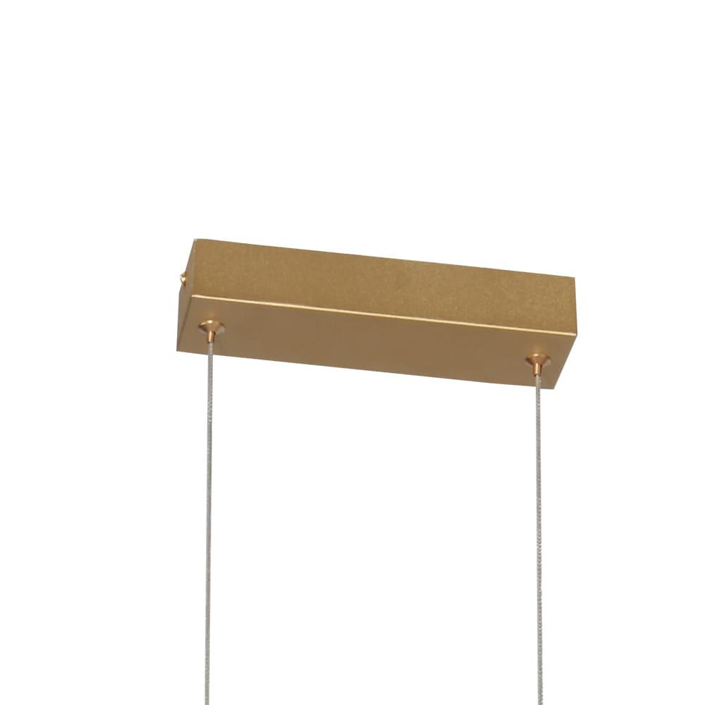 Pendente Glitter Dourado e Transparente 76x6x13,5cm Led 20W Bivolt Bella Iluminação HC009S