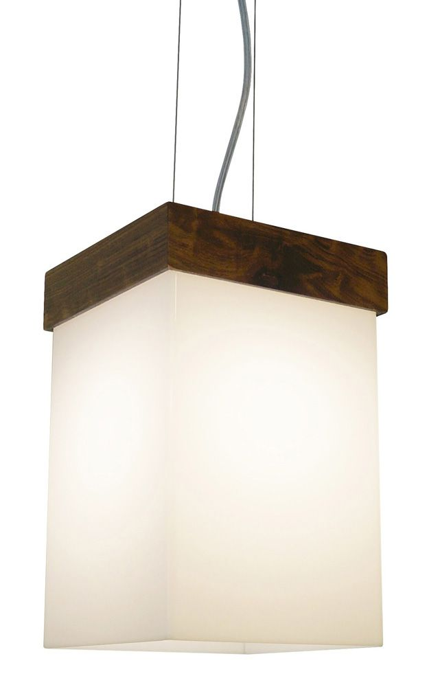 Pendente In Box Em Madeira 30x15x15cm 1xE27 Bivolt Union Iluminação 183