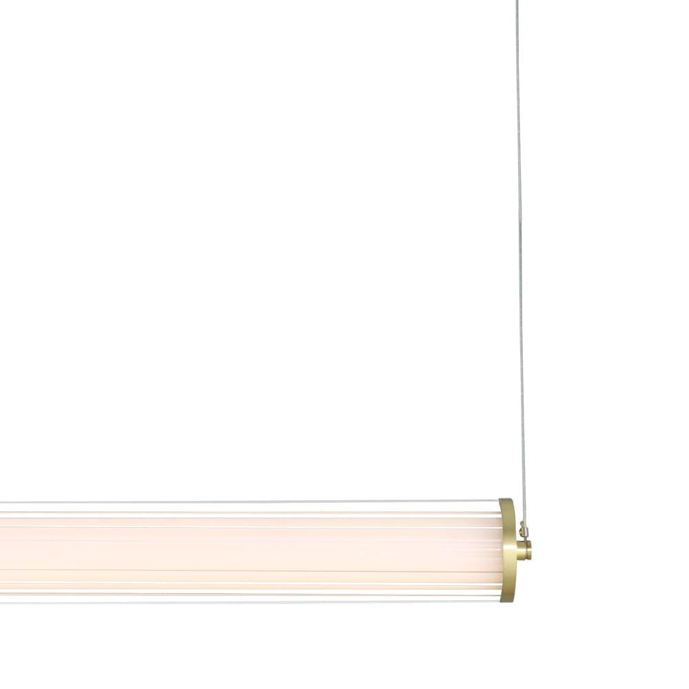 Pendente Lampe Bronze e Transparente 125x7,35x7,35cm Led 45W Bivolt Bella Iluminação HC001L