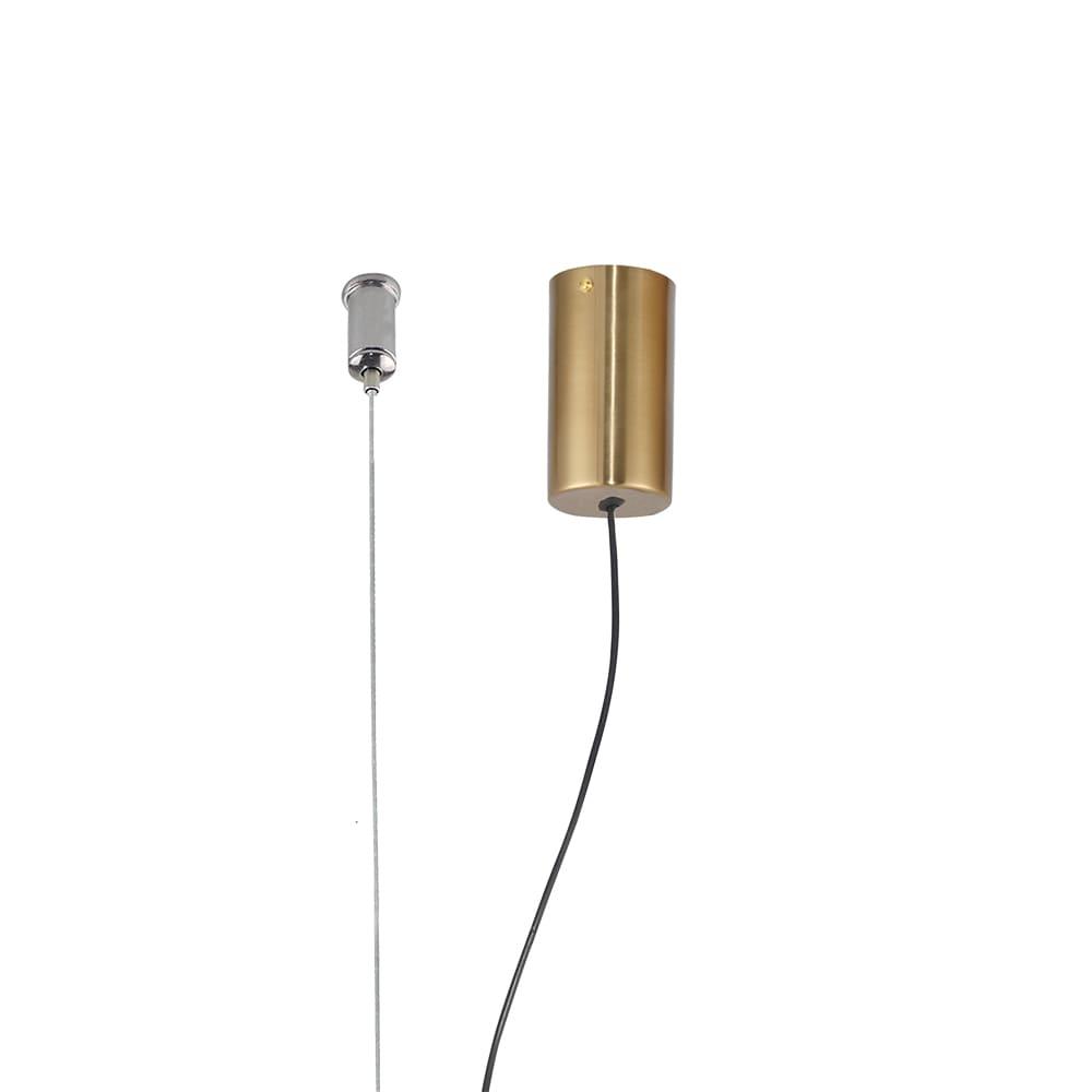 Pendente Lampe Bronze e Transparente 65x7,35x7,35cm Led 23W Bivolt Bella Iluminação HC001S