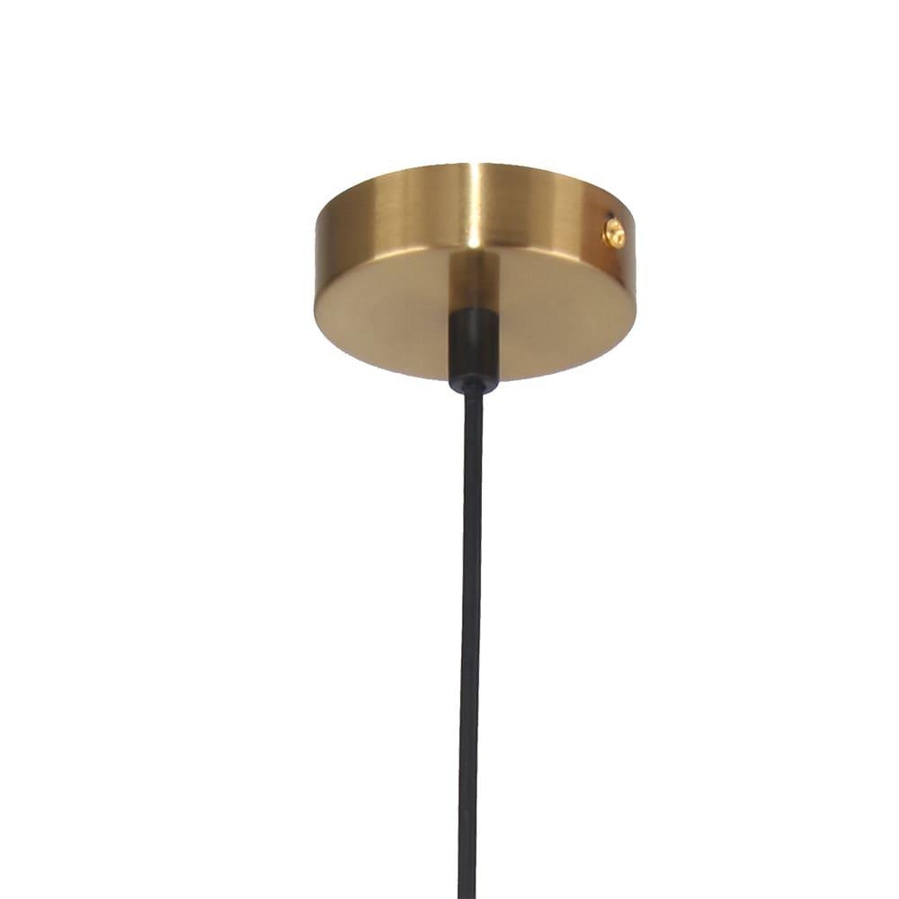 Pendente Lanterna Dourado e Branco Fosco Ø50x32cm Led 16W Bivolt Bella Iluminação HC010