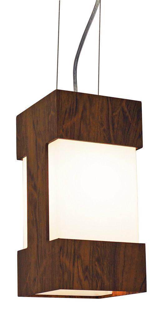 Pendente Listra Em Madeira 30x15x15cm 1xE27 Bivolt Union Iluminação 001