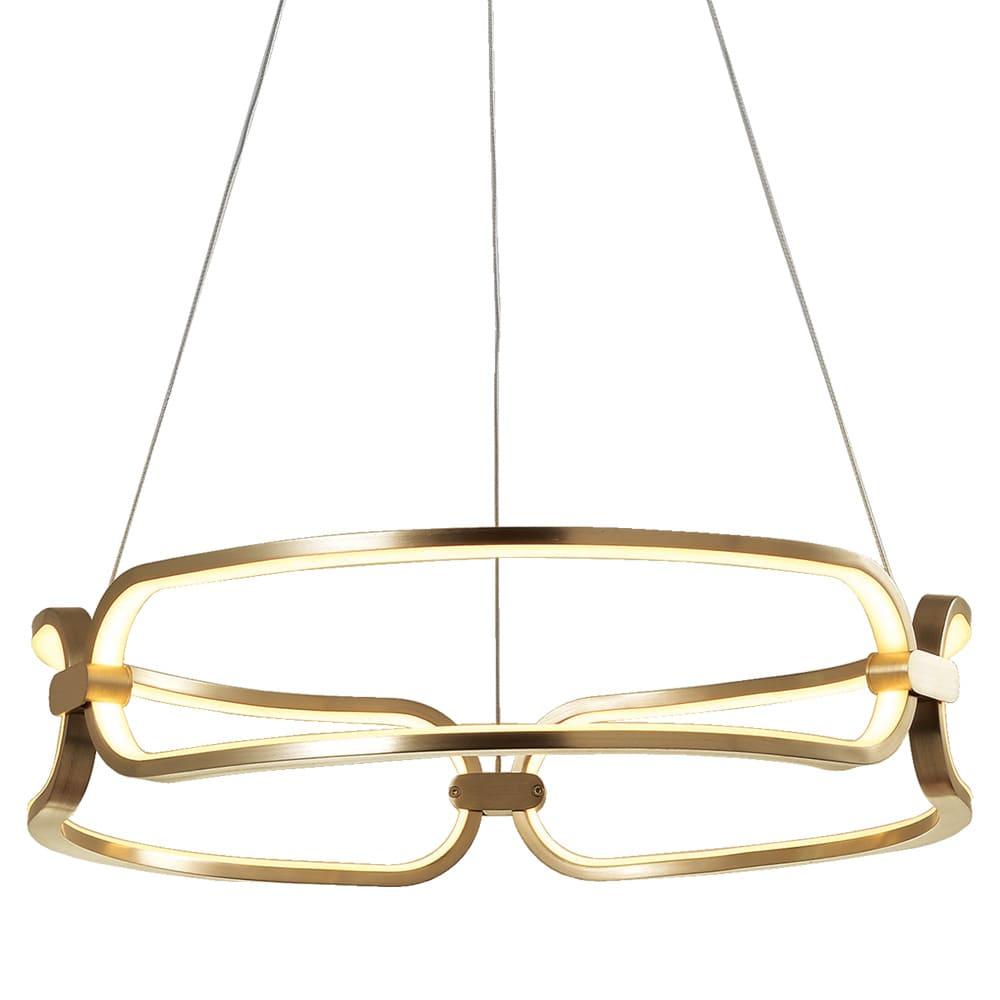 Pendente Lúmina French Gold ø45x9,5cm Led 37W Bivolt Bella Iluminação BB006G