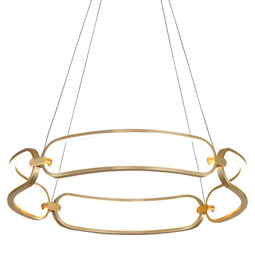 Pendente Lúmina French Gold ø60x9,5cm Led 50W Bivolt Bella Illuminação BB007G