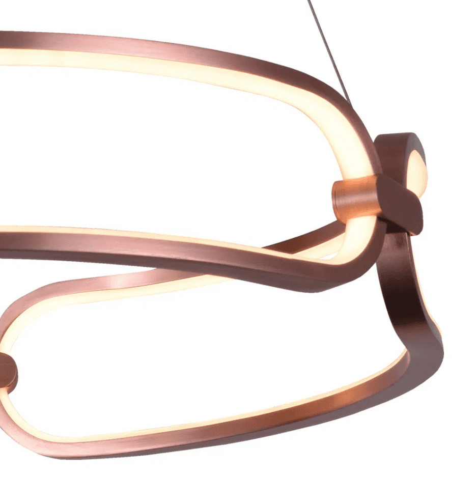 Pendente Lúmina Rosê Gold ø45x9,5cm Led 37W Bivolt Bella Iluminação BB006E