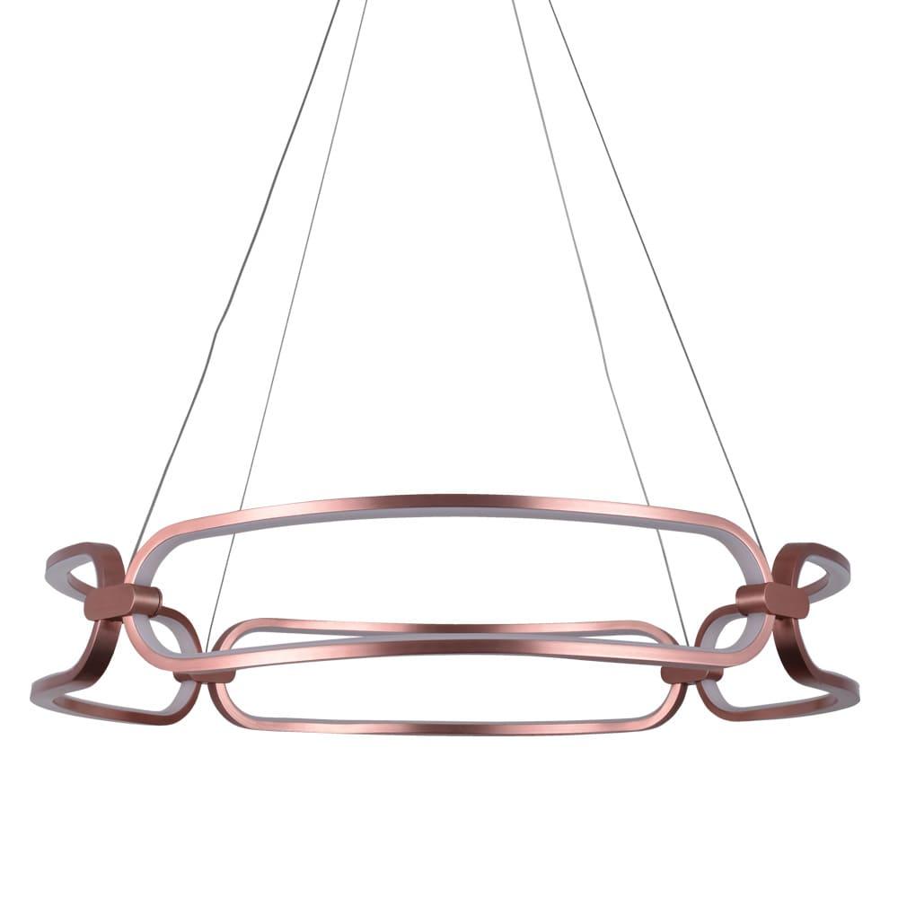 Pendente Lúmina Rosê Gold ø60x9,5cm Led 50W Bivolt Bella Iluminação BB007E