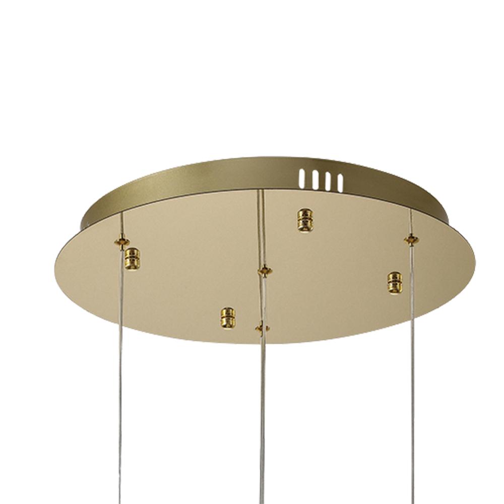 Pendente Onda Dourado e Transparente 40x22cm 4xLed 10W 3000k Bivolt Bella Iluminação OC008L