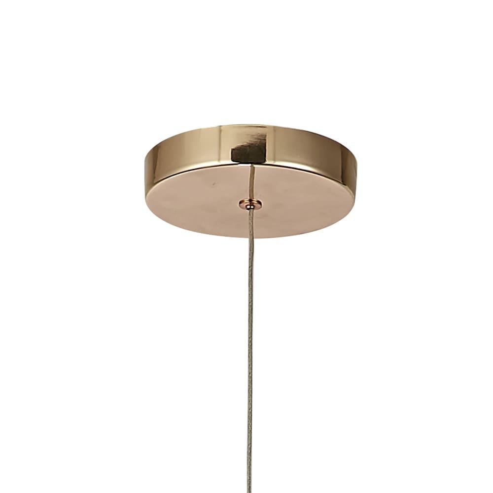 Pendente Otto French Gold e Transparente 19x11cm Led 9W Bivolt Bella Iluminação JO006G