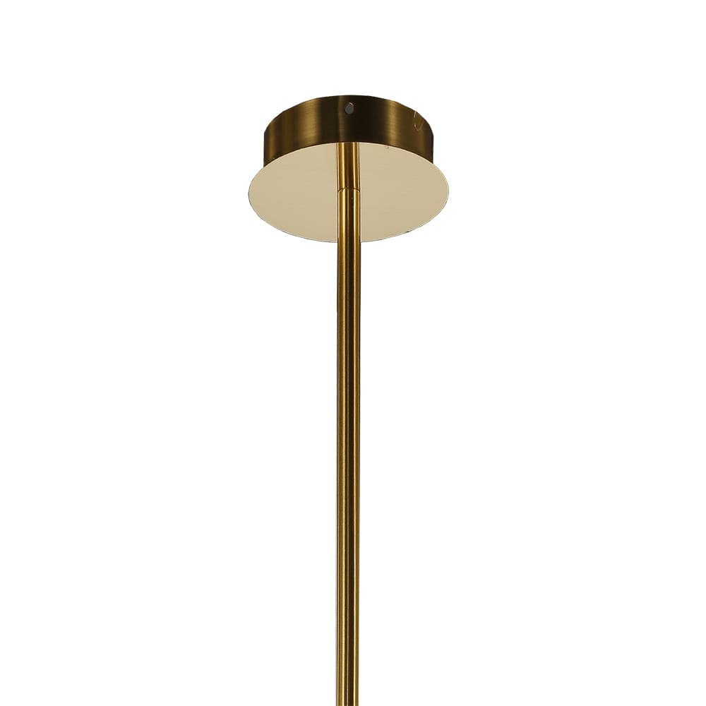Pendente Pétra Dourado e Transparente 54x31cm 6xLed 18W 3000K Bivolt Bella Iluminação OC009