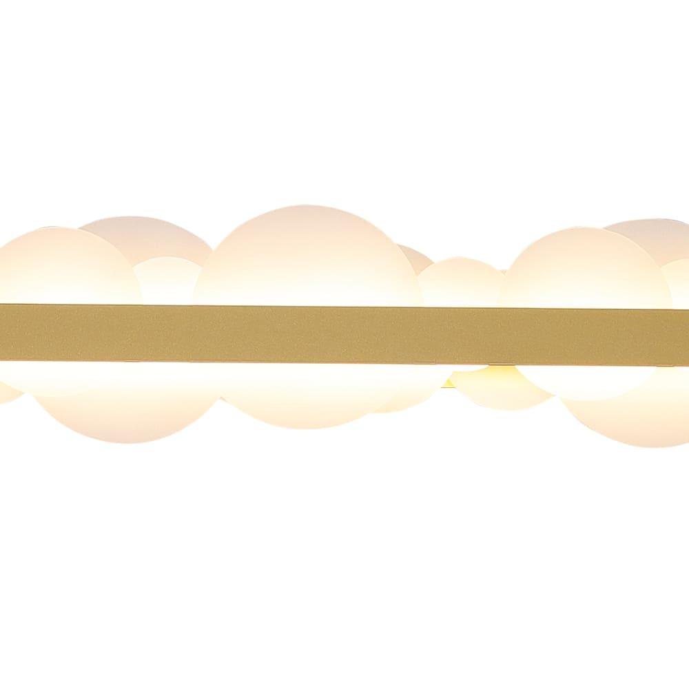 Pendente Poema Dourado e Branco 100x6x12cm Led 34W Bivolt Bella Iluminação EG004
