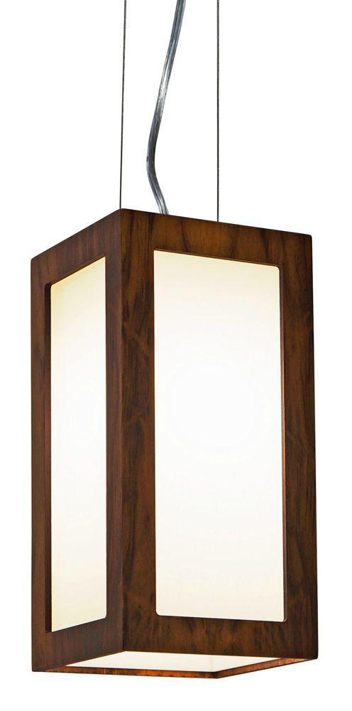 Pendente Retângulo Vertical Em Madeira 30x15x15cm 1xE27 Bivolt Union Iluminação 013