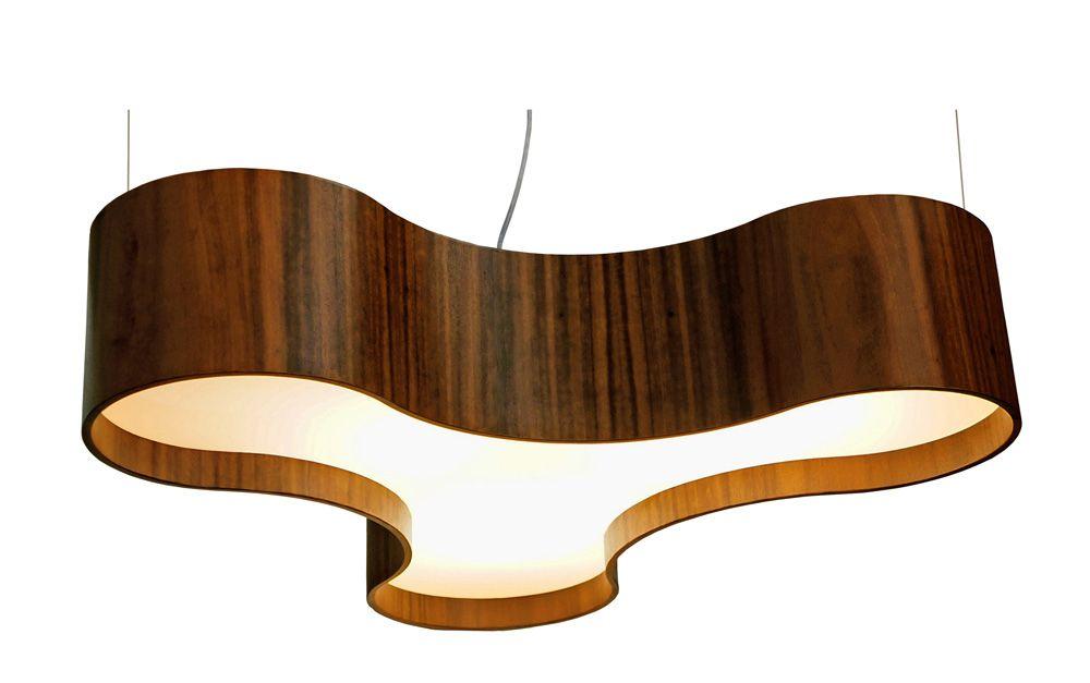 Pendente Trio Em Madeira 20x90x82cm 6xE27 Bivolt Union Iluminação 143