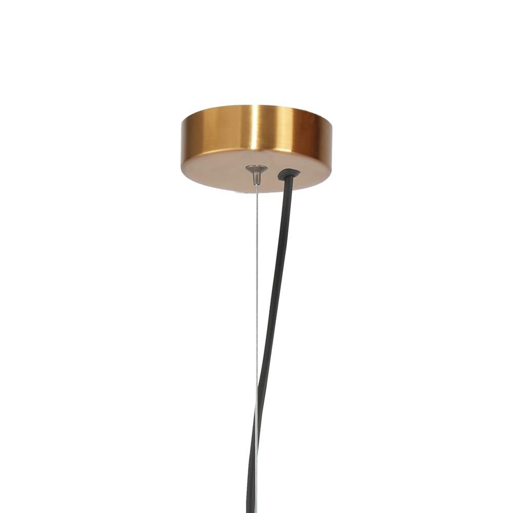 Pendente Tru Bronze e Transparente Ø24x36,5cm Led 21W Bivolt Bella Iluminação HC004