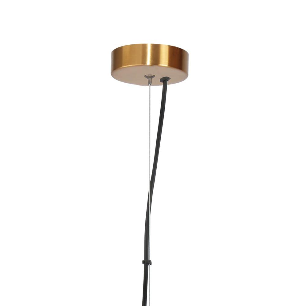 Pendente Tru Bronze e Transparente Ø24x45,5cm Led 30W Bivolt Bella Iluminação HC005