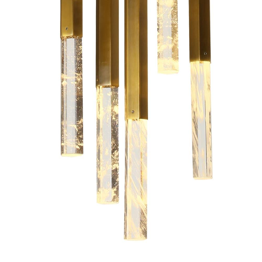 Pendente Vita Bronze e Transparente 28x51cm 5xLed 20W Bivolt Bella Iluminação HM005M
