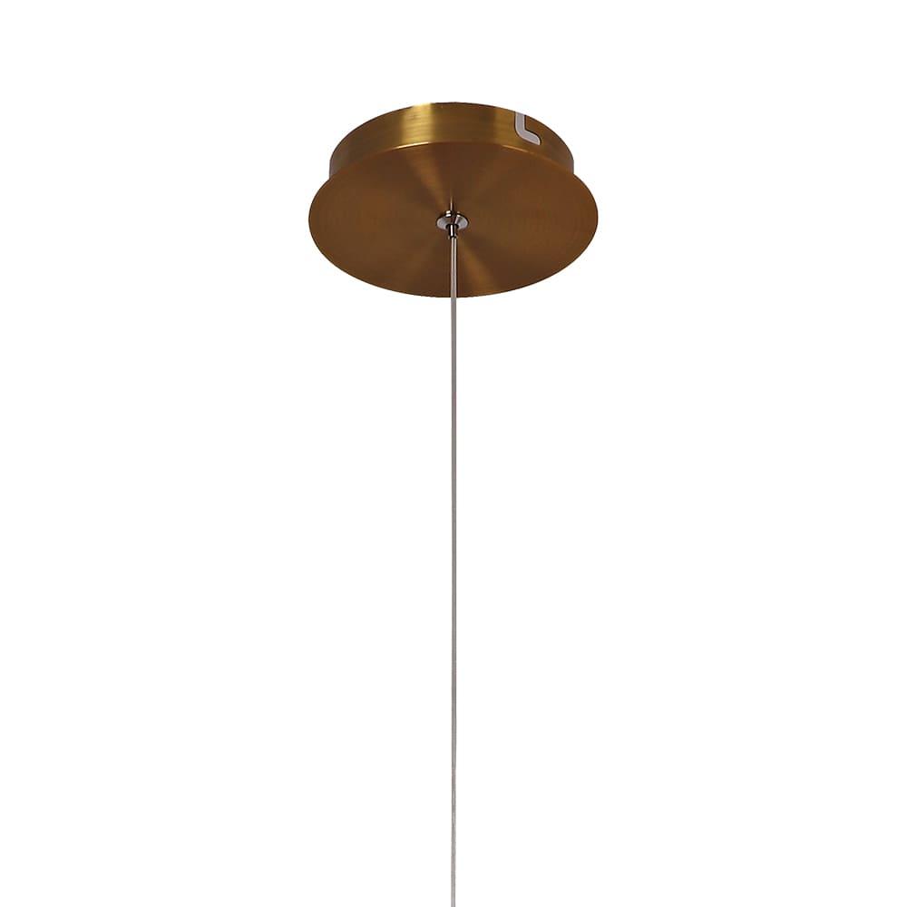 Pendente Vita Bronze e Transparente 3,2x51cm 4W Bivolt Bella Iluminação HM005S