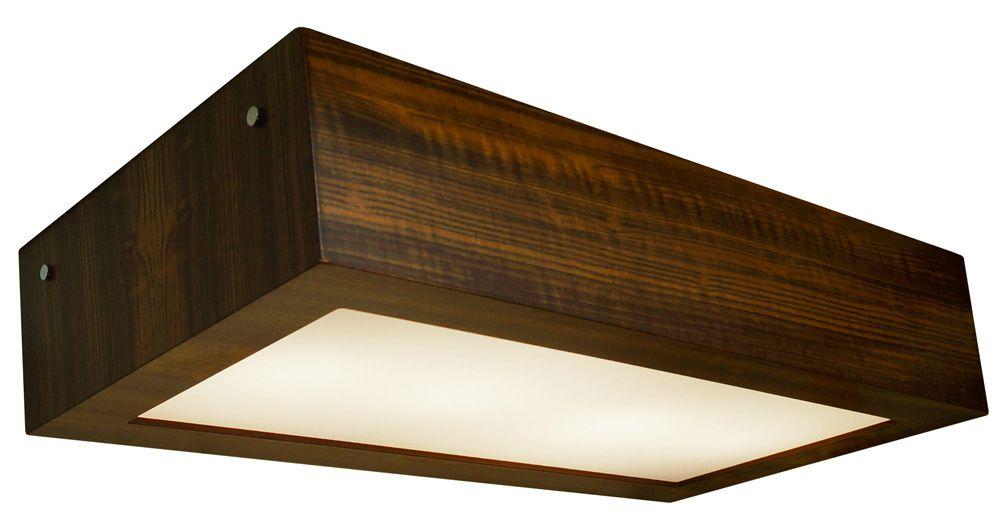 Plafon Aberto Longo Em Madeira 12x60x30cm 4xE27 Bivolt Union Iluminação 022