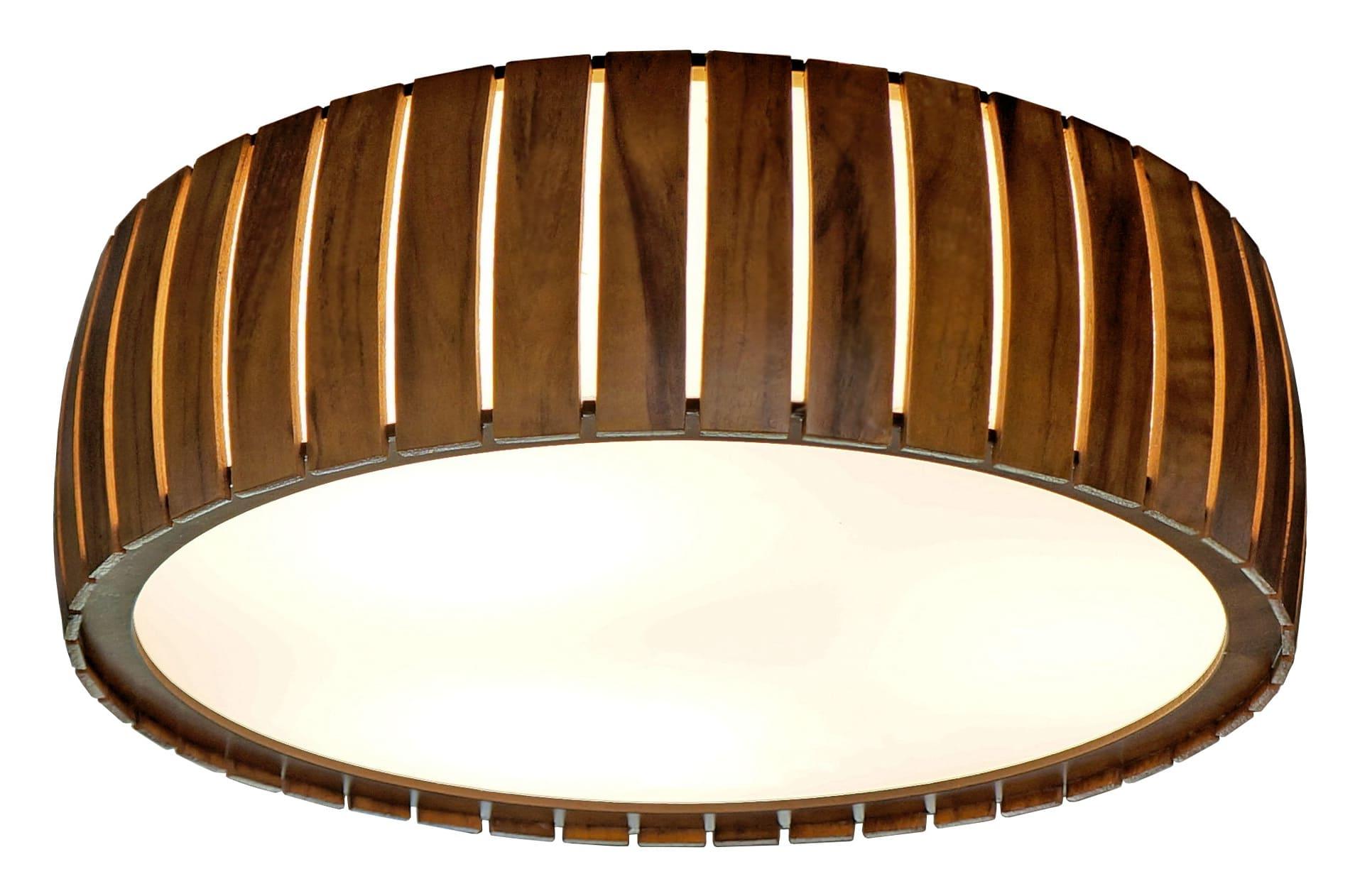 Plafon Cilíndrico Ripado Curvo Ø60x15cm 4xE27 Bivolt Union Iluminação 206