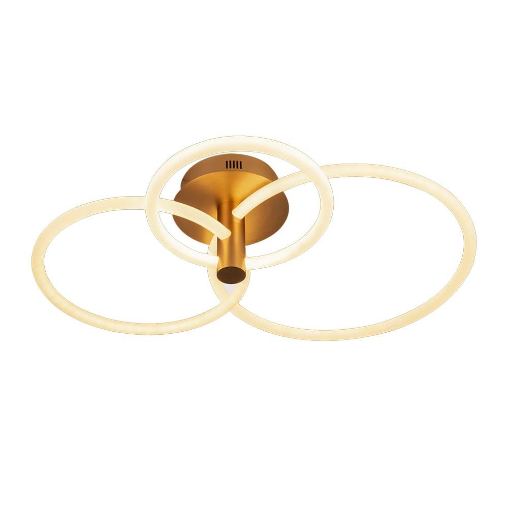 Plafon Circolo French Gold 86x49x20cm Led 54W Bivolt Bella Iluminação BB020