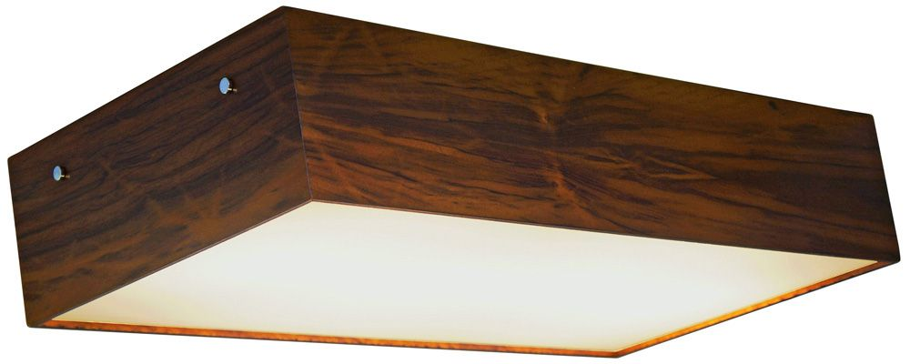 Plafon Clean Longo Em Madeira 12x60x30cm 4xE27 Bivolt Union Iluminação 066