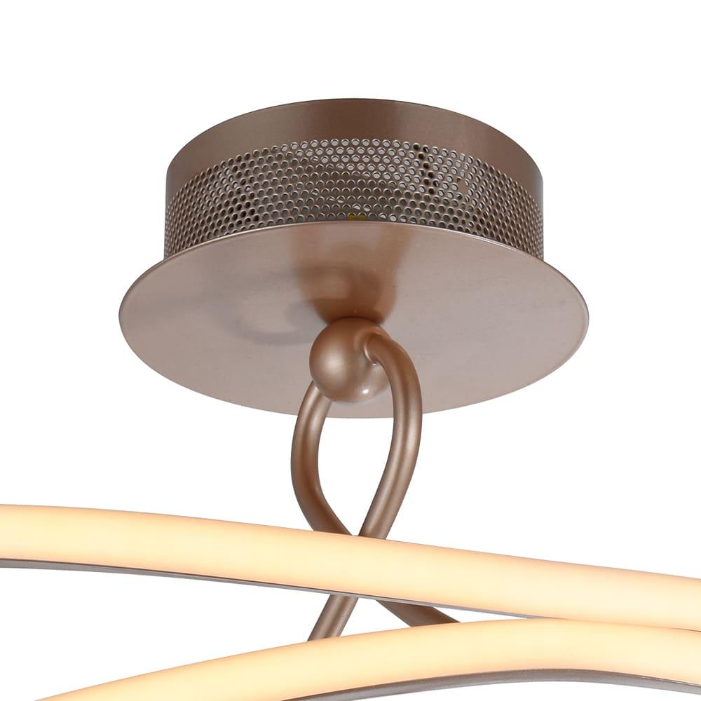 Plafon Fita Pale Gold 46x28,5cm Led 36W Bivolt Bella Iluminação BB019