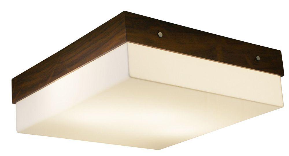Plafon In Box Em Madeira 12x30x30cm 2xE27 Bivolt Union Iluminação 058