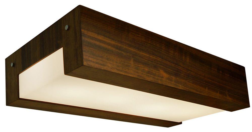 Plafon Listra Longo Em Madeira 12x60x30cm 4xE27 Bivolt Union Iluminação 028