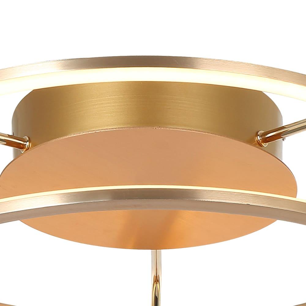 Plafon Lúmina French Gold 47x17cm Led 35W Bivolt Bella Iluminação BB016SG