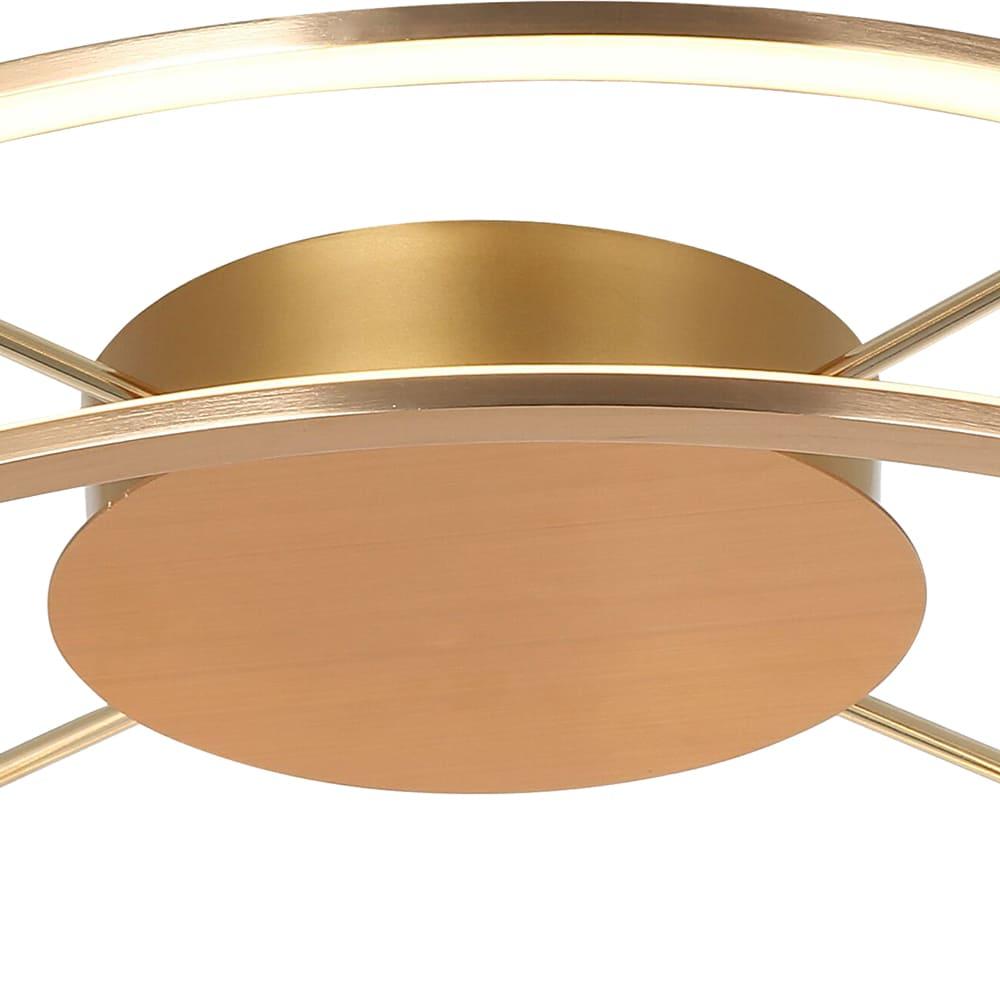 Plafon Lúmina French Gold 60x17cm Led 45W Bivolt Bella Iluminação BB016LG