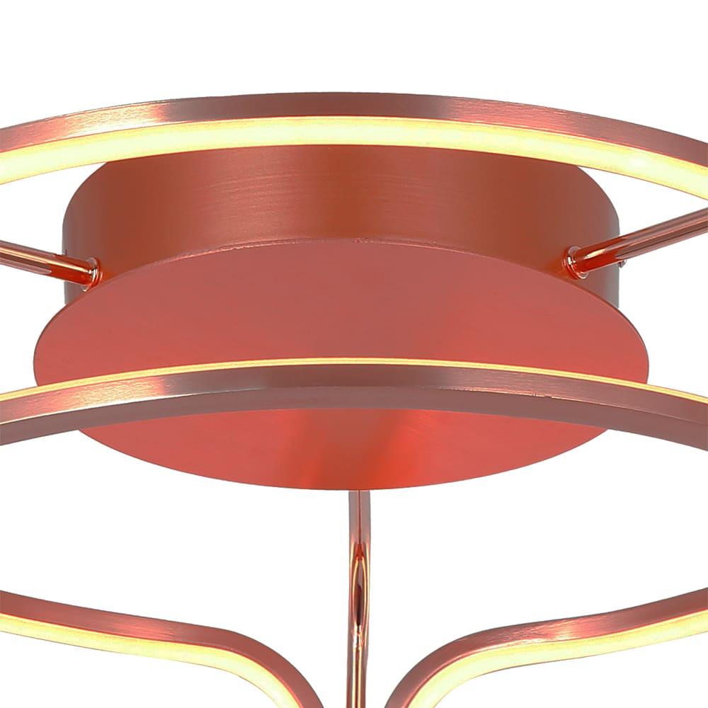 Plafon Lúmina Rosê Gold 47x17cm Led 35W Bivolt Bella Iluminação BB016SE