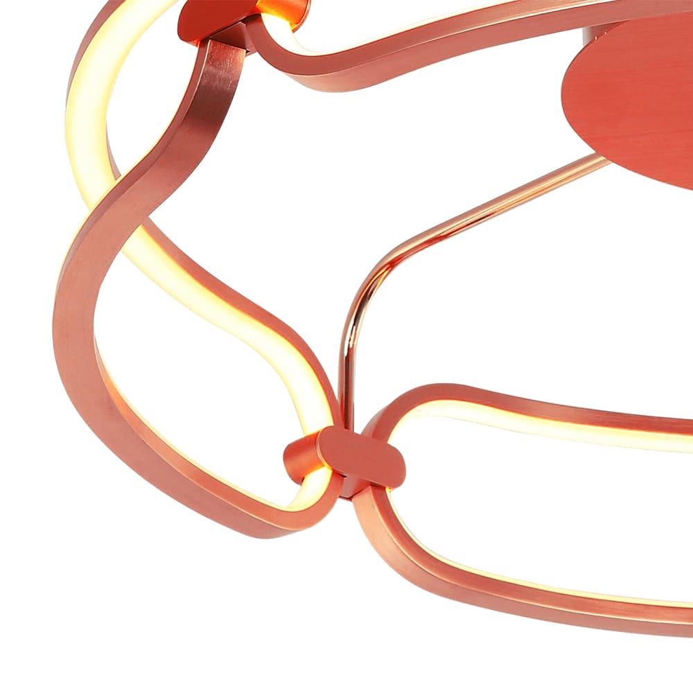 Plafon Lúmina Rosê Gold 60x17cm Led 45W Bivolt Bella Iluminação BB016LE