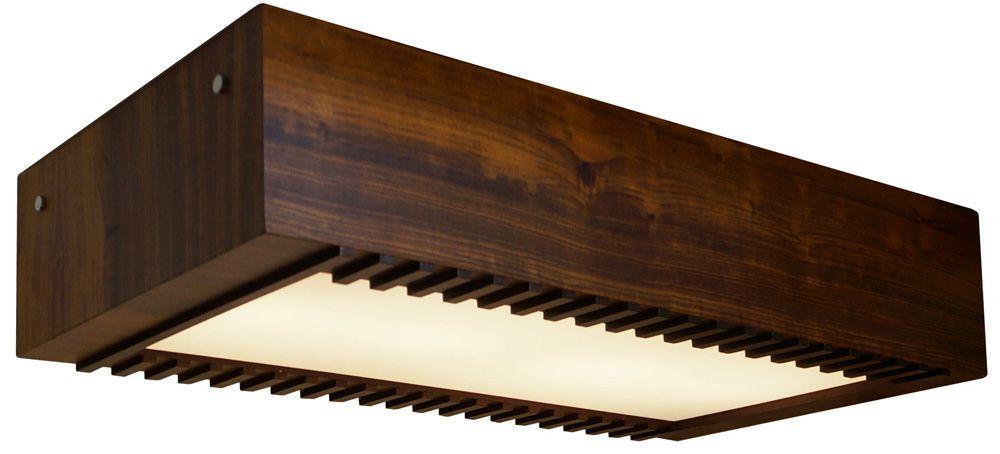 Plafon Ripado Longo Em Madeira 12x60x30cm 4xE27 Bivolt Union Iluminação 029